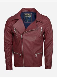 Wam Denim Summer jacket71164 dark red