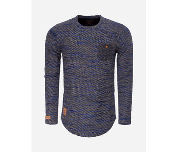 Wam Denim Sweater 76152 Black Royal Blue