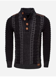 Wam Denim Sweater 77212 Jonotla Black Anthracite