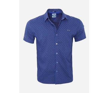 Arya Boy Overhemd Korte Mouw  7 Dark Blue
