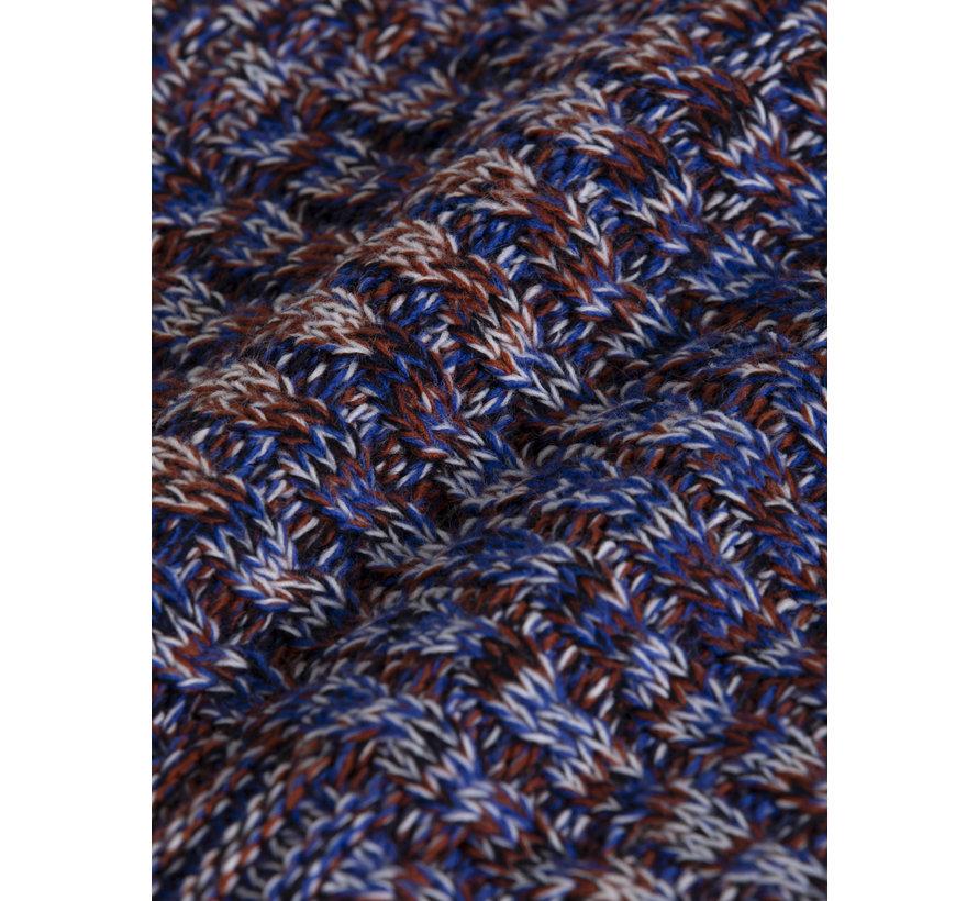 Trui Tuscon Royal Blue Brown