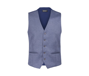 Wam Denim Plaid Vest Fabian Blue