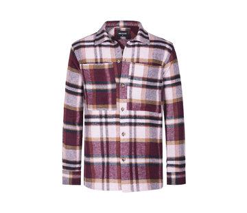 Wam Denim Long Sleeve Shirt Magnus Dark Red
