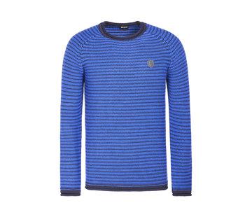 Wam Denim Sweater Corbeau Royal Blue