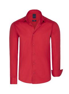 Arya Boy Overhemd Lange Mouw Leira Red