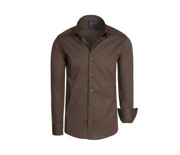 Arya Boy Shirt Long Sleeve Leira Brown