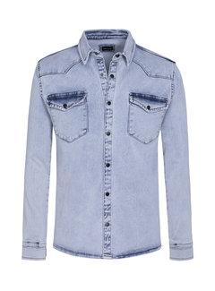 Wam Denim Shirt Long Sleeve  Dimon  Light Blue