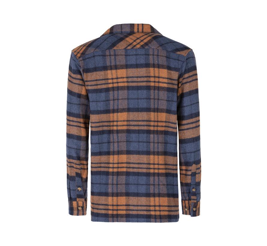 Shirt Long Sleeve Navy Peru