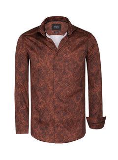 Wam Denim Shirt Long Sleeve Gaya Brown