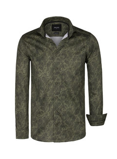 Wam Denim Shirt Long Sleeve Gaya Green