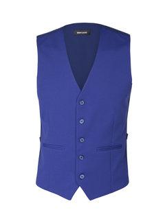 Wam Denim Plaid Vest Remington Royal Blue