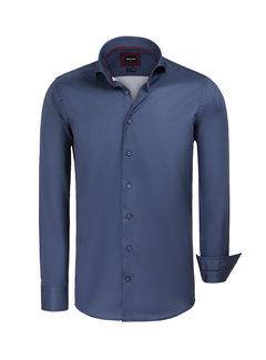 Wam Denim Overhemd Lange Mouw Potamos Navy