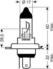 Osram H4 12V Glühlampe
