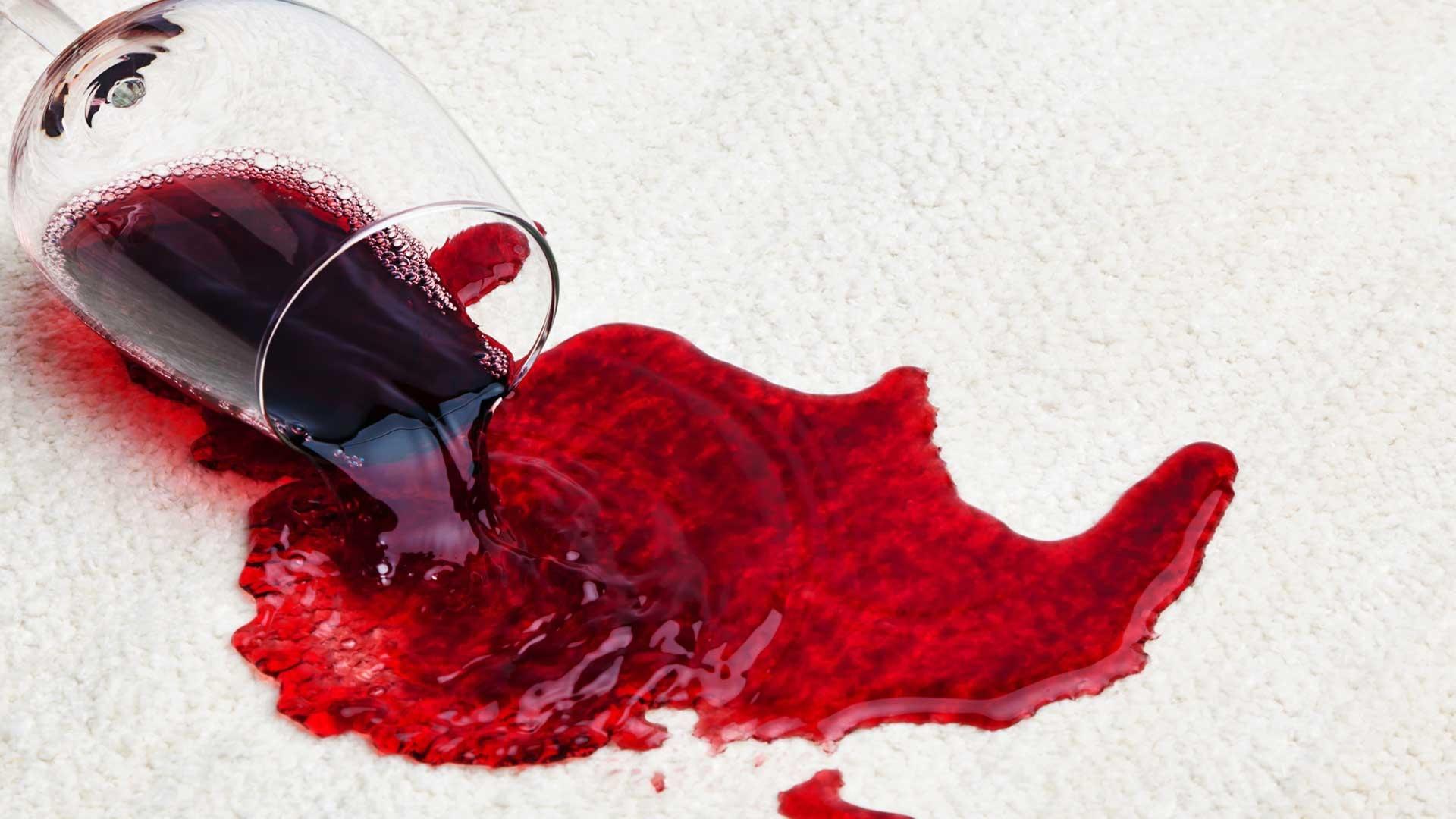 wijnvlek verwijderen