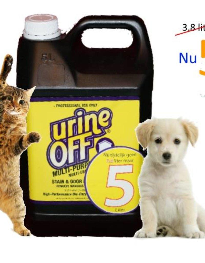 Urine Off - Multi Purpose - UrineOFF l'odeur d'urine et détacheur d'urine chien et chat, 5 litres