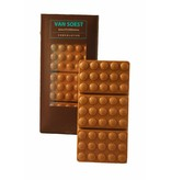 GEVULDE CHOCOLADE REEP HAZELNOOT PRALINE MELK/WIT