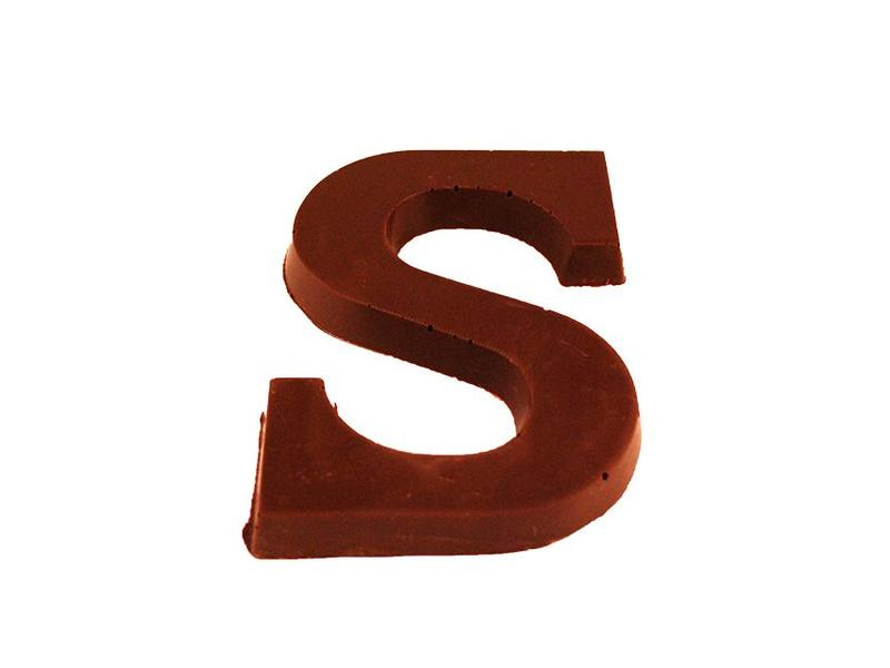 CHOCOLATE LETTER SUGAR FREE DARK CHOCOLATE