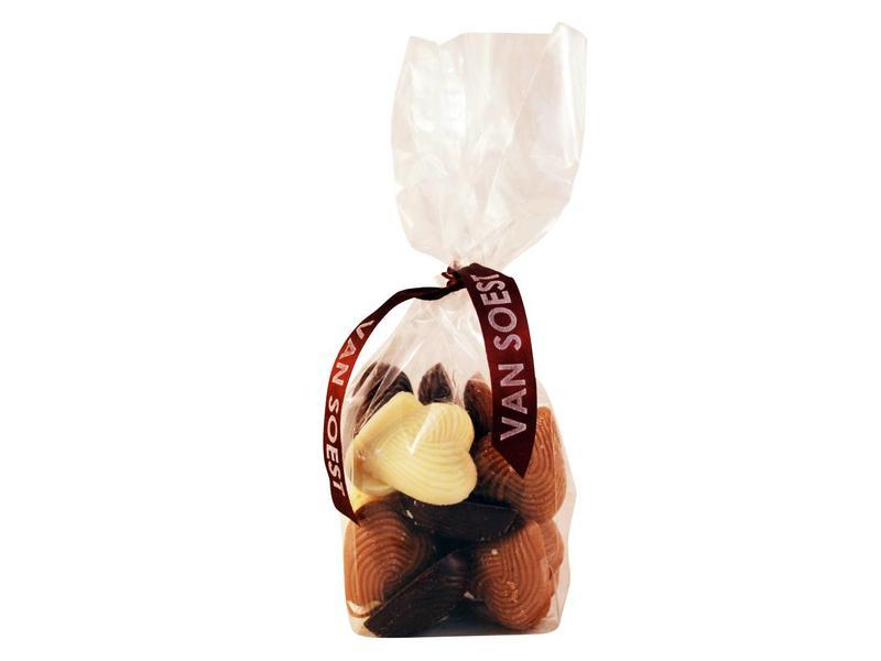 CHOCOLADE HARTJES MELK/PUUR/WIT