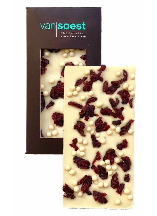 CHOCOLATE BAR WHITE CRISPY CRANBERRY