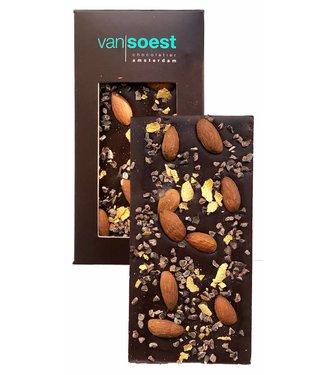 CHOCOLADE REEP PUUR AMANDEL CACAONIBS