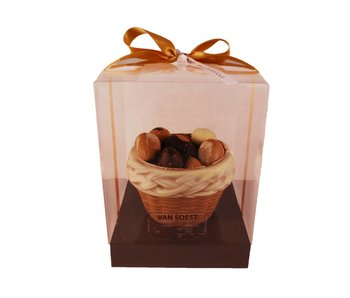 CHOCOLATE BASKET FILLED WITH CHOCOLATES
