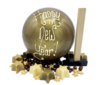 HAPPY NEW YEAR BALL WITH HAMMER