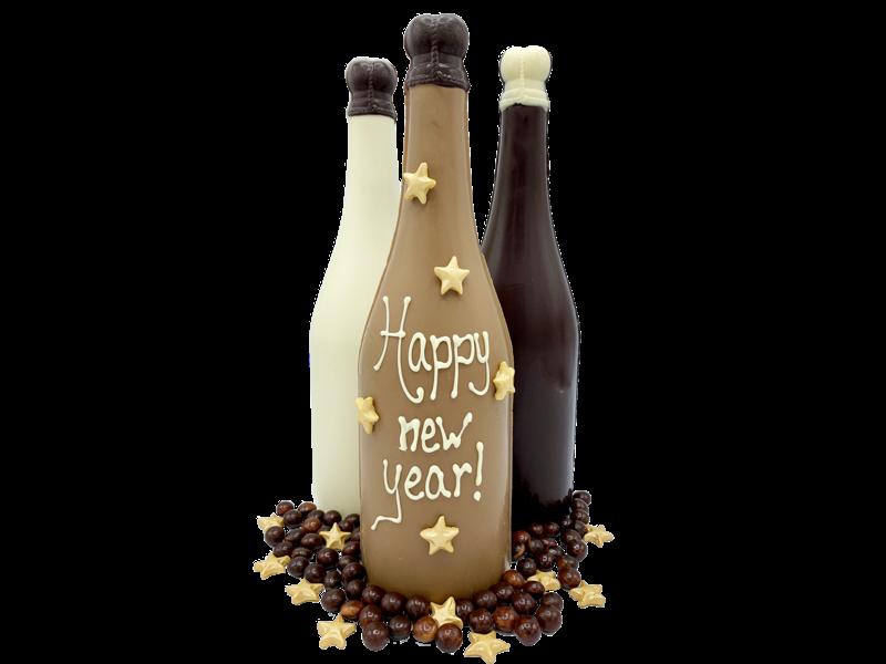 HAPPY NEW YEAR CHOCOLATE BOTTLE