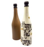 CHOCOLATE CHAMPAGNE BOTTLE WITH TEXT