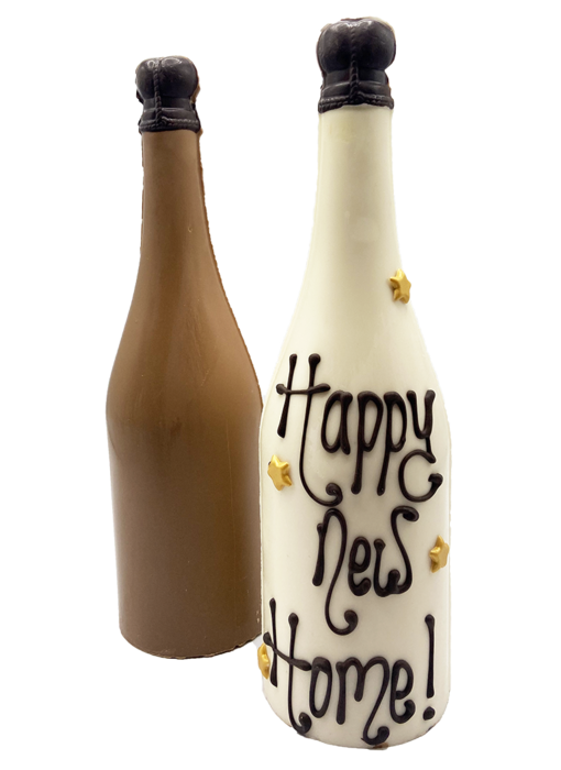CHOCOLATE BOTTLE WITH TEXT