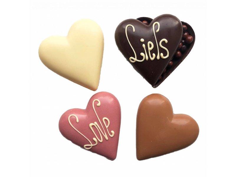 CHOCOLADE HART KLEIN GEVULD