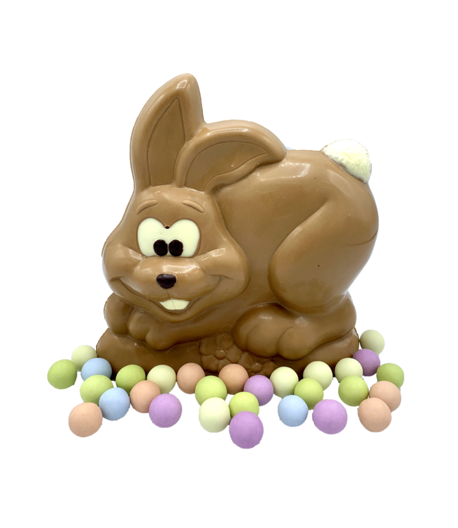BUNNY WITH PASTEL EGGS
