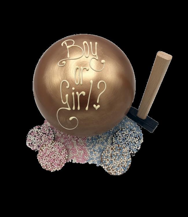 GENDER REVEAL CHOCOLADE BAL