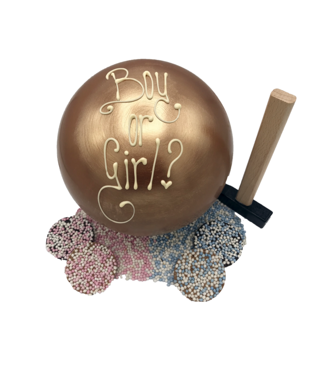 GENDER REVEAL CHOCOLATE BALL