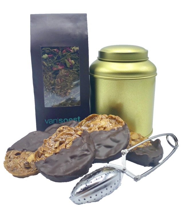 TEA PACKAGE WITH FLORENTINE COOKIES