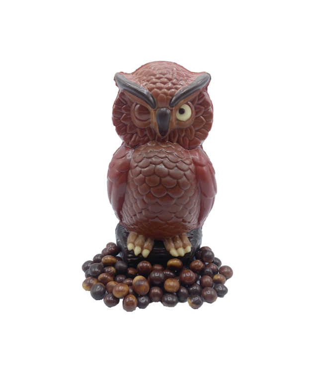 AUTUMN CHOCOLATE OWL WITH PEARLS