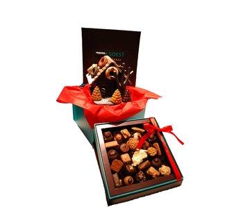 CHOCOLATE HOUSE AND LUXURY BOX OF CHOCOLATES