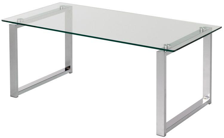 Glazen salontafel 100 x 50 x 40 cm