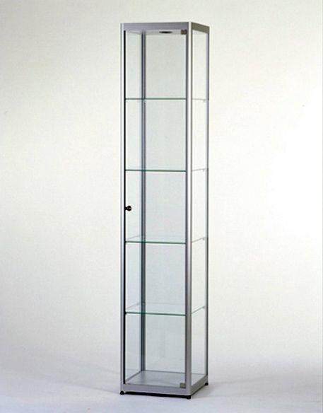 Hoek Vitrinekast Glas.Glazen Vitrinekast H200 X B40 X D40 Cm Osby Kantoormeubelen
