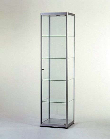 Glazen Vitrinekast H200 x B50 x D50 cm