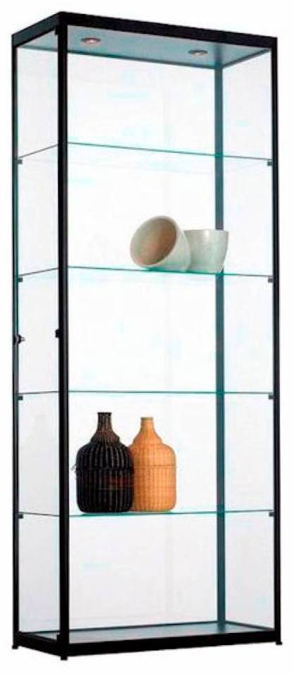 Glazen Vitrinekast H200 x B80 x D40 cm