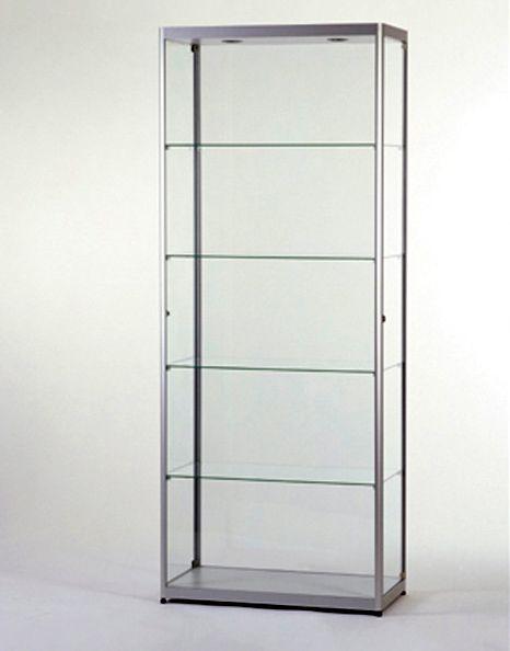 Hoek Vitrinekast Glas.Glazen Vitrinekast H200 X B80 X D40 Cm Osby Kantoormeubelen