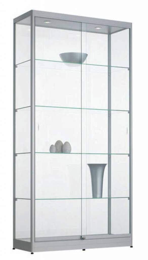 Hoek Vitrinekast Glas.Glazen Vitrinekast H200 X B100 X D40 Cm Osby Kantoormeubelen