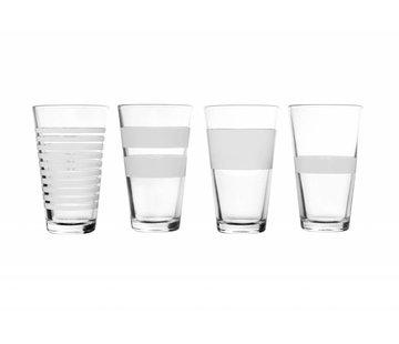 S&P STRIPELESS long drink glass 325 ml (white) set / 4