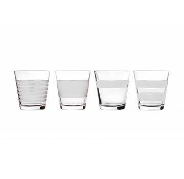 S&P VIDRIO STRIPELESS 265 ml (blanco) set / 4
