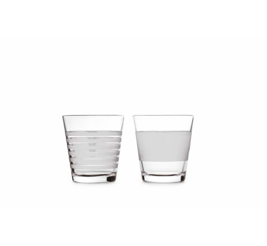 STRIPELESS drinking glass 265 ml (white) set / 4 800764