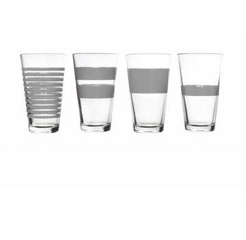 S&P RAYAS copa larga de bebida 325 ml (gris) set / 4