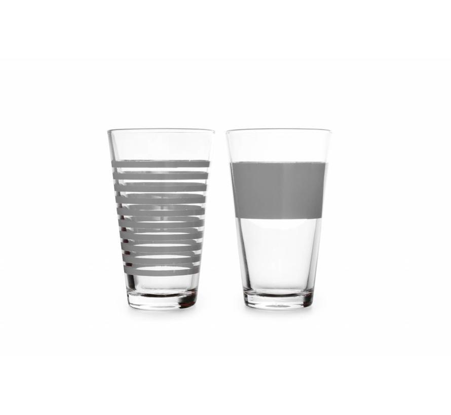 STRIPES long drink glass 325 ml (gray) set / 4 800753
