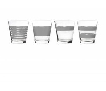 S&P STRIPES drinking glass 265 ml (gray) set / 4