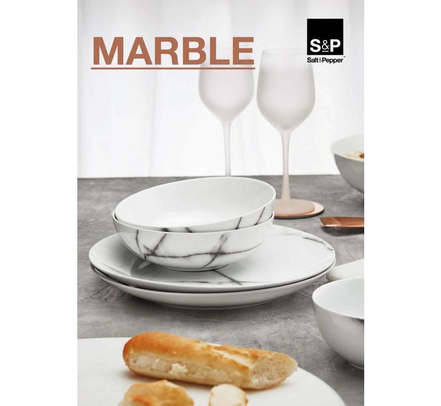 MARBLE flat board 26,5cm (set / 4) SP42248