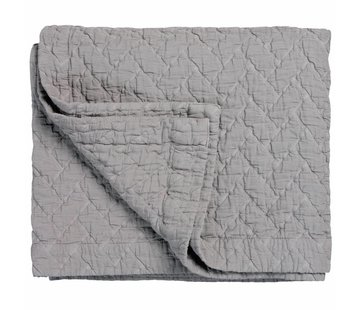 Vandyck PURE 10 plaid/bedspread 180x260 cm Steel Gray (cotton)